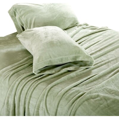 Valeriane Super Soft Plush Sheet Set Size: King, Color: Sage