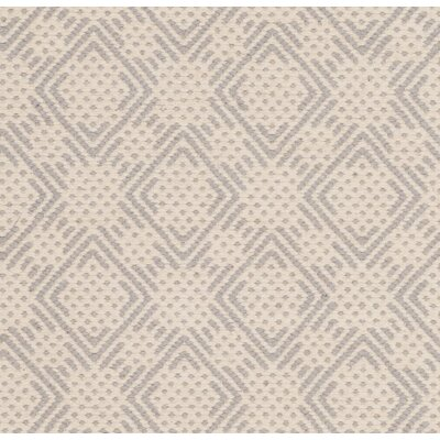 Luzerne Cotton Hand-Woven Silver/Ivory Area Rug Rug Size: 5 x 8