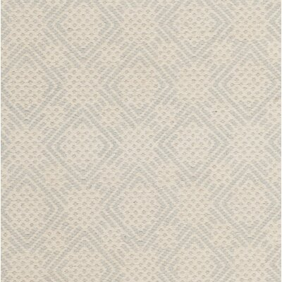 Loganville Cotton Hand-Woven Light Blue/Ivory Area Rug Rug Size: 8 x 10