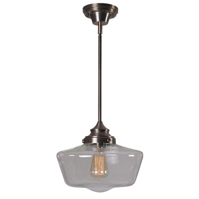 Esley 1-Light Schoolhouse Pendant