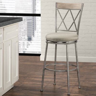 Allain 26 Swivel Indoor/Outdoor Patio Bar Stool