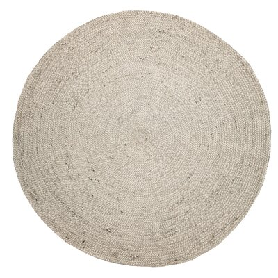 Victoriaville Hand-Woven Ivory Area Rug Rug Size: Round 8