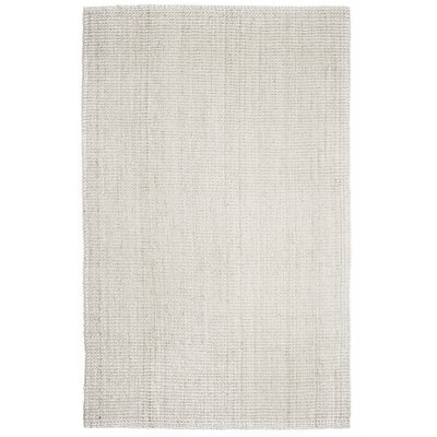 Villebois Hand-Woven Ivory Area Rug Rug Size: Rectangle 4 x 6