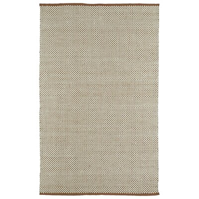 Emilia Brown/Cream Area Rug Rug Size: Rectangle 5 x 76