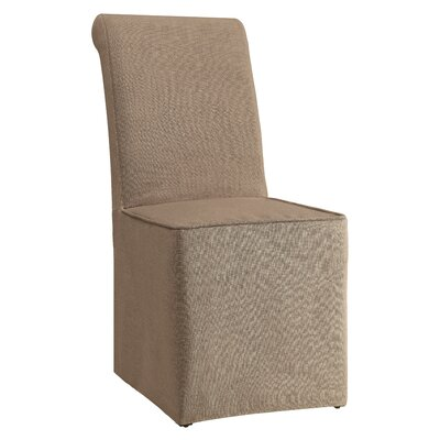 Cherry Hill Parsons Chair Upholstery: Beige