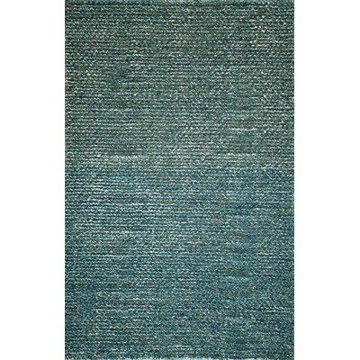 Erable Hand-Woven Blue Area Rug Rug Size: 5 x 7