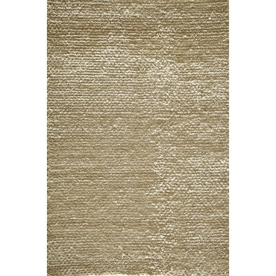 Erable Hand-Woven White Area Rug Rug Size: 36 x 56
