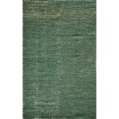 Thaddeus Hand-Woven Teal Area Rug Rug Size: 2' x 3'