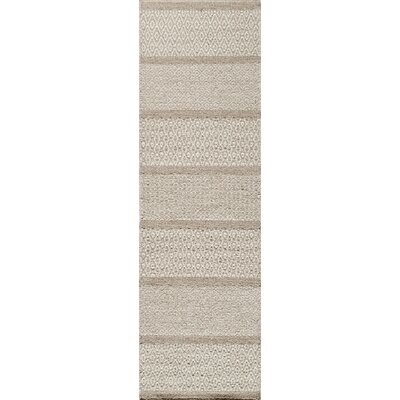 Epping Hand-Woven Beige Rug Rug Size: 8 x 10