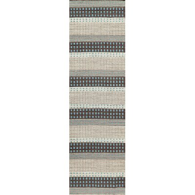 Epping Hand-Woven Blue Area Rug Rug Size: Rectangle 2' x 3'