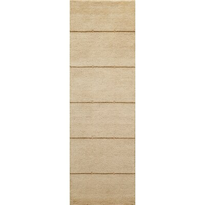 Sibley Hand-Loomed Sand Area Rug Rug Size: Rectangle 36 x 56