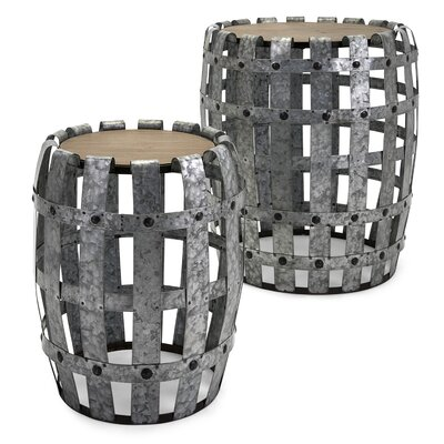 Victor Galvanized 2 Piece End Tables