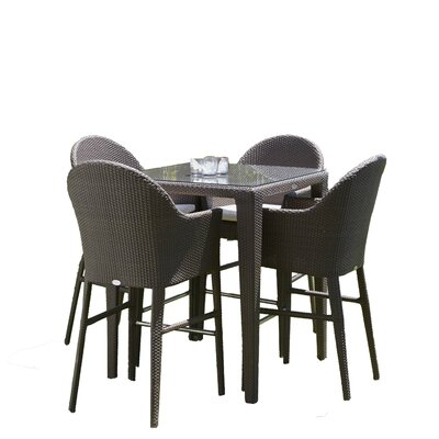 Hague 5 Piece Aluminum Frame Dining Set with Cushions
