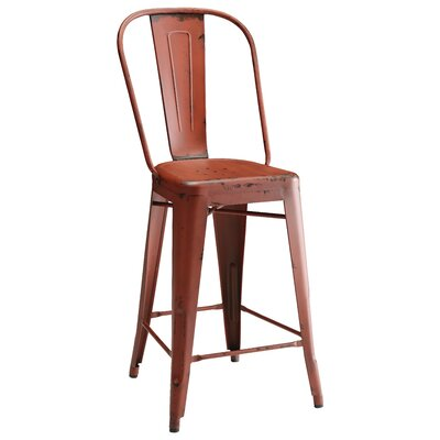 Arista Dining Chair Finish: Red