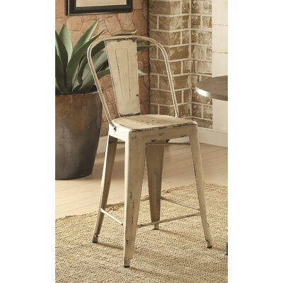Villeroy Counter Height Side Chair Finish: White