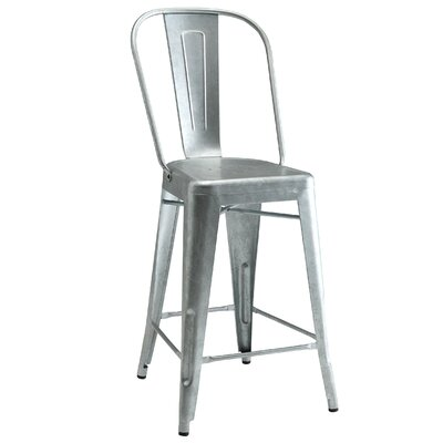 Villeroy Counter Height Side Chair Finish: Gunmetal