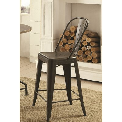 Villeroy Counter Height Side Chair Finish: Antique Bronze