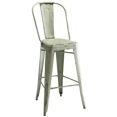 Villette Bar Stool Finish: Blue