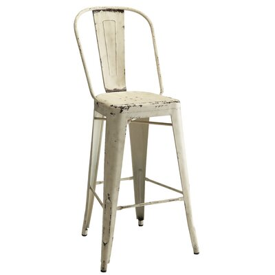 Pari Bar Stool Finish: White