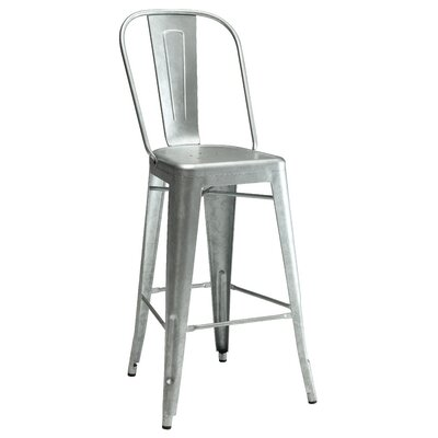 Pari Bar Stool Finish: Gunmetal