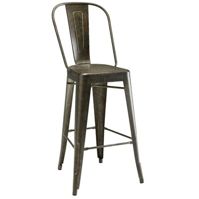 Pari Bar Stool Finish: Antique Bronze