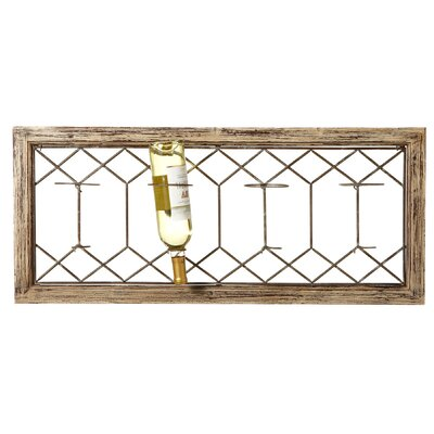 Lanoue  4 Bottle Wall Mounted Wine Bottle Rack