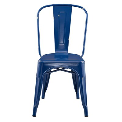 Airelle Side Chair Finish: Navy Blue