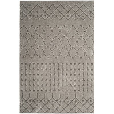 Delphi Gray Area Rug Rug Size: 4 x 6