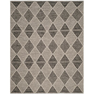 Oxbow Hand-Woven Black Area Rug Rug Size: Rectangle 9 x 12