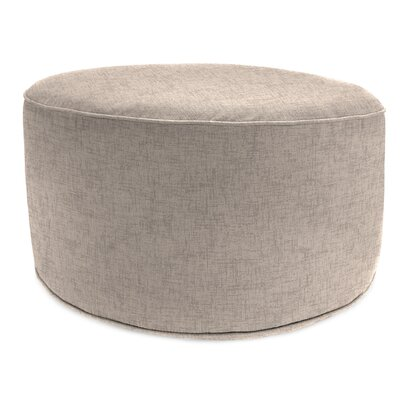 24 Round Pouf Outdoor Ottoman Cushion in Oyster