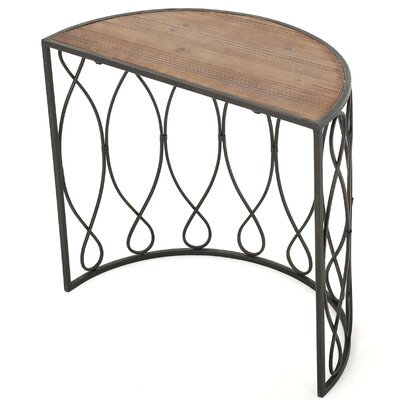 Clearfield Wood/Iron Accent End Table
