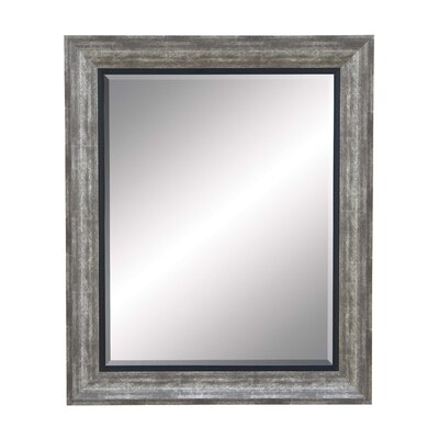 Beveled Rectangle Grey Resin Wall Mirror LRFY6353 43007821