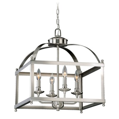 Cleona Traditional 4-Light Foyer Pendant