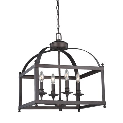 Lavande 4-Light Foyer Pendant Finish: Architectural Bronze, Size: 93 H x 18 W x 18 D