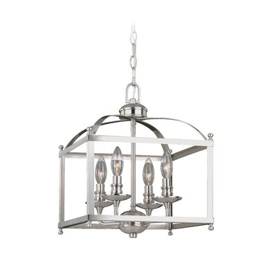 Cleona 4-Light Foyer Pendant Finish: Satin Nickel, Size: 87