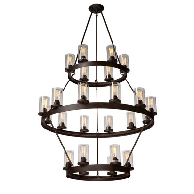 Florine 24-Light Candle-Style Chandelier