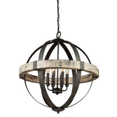 Pearl 6-Light Candle-Style Chandelier