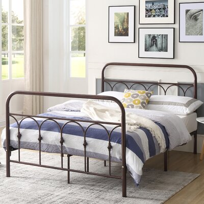 Perine Metal Platform Bed Finish: Bronze, Size: Twin