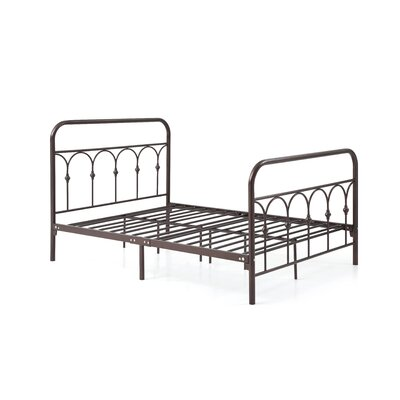 Boris Platform Bed Size: Twin, Color: Bronze
