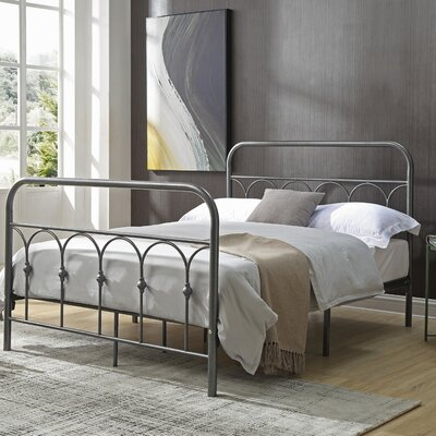 Perine Metal Platform Bed Finish: Charcoal, Size: Queen