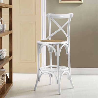 Gage 29 Bar Stool Finish: White