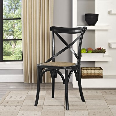 Gage Side Chair Finish: Black