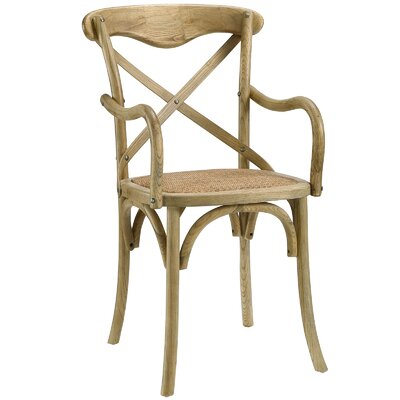 Gage Arm Chair Finish: Natural