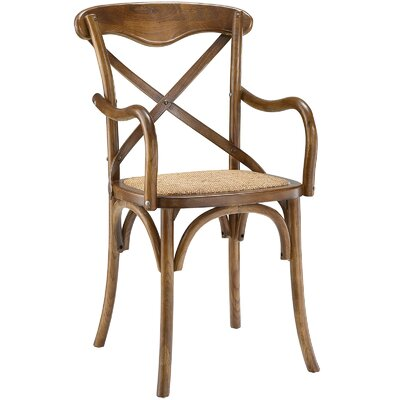 Gage Arm Chair Finish: Walnut