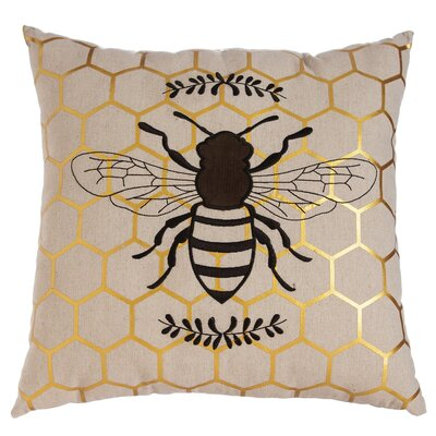 Vitrolles Natures Bounty Bee Indoor/Outdoor Throw Pillow