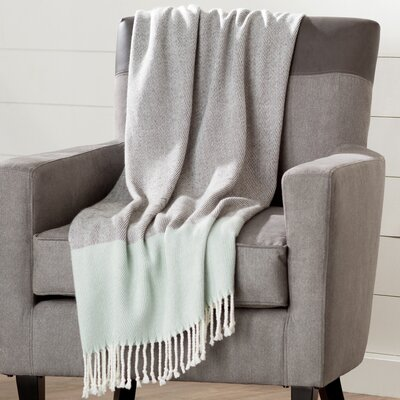 Natalia Color Block Throw Color: Blue