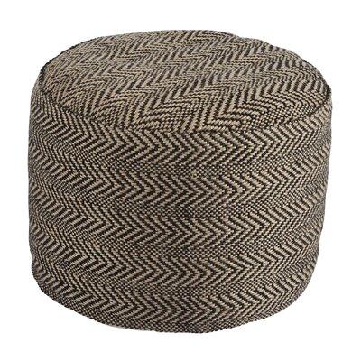 Vonda Chevron Pouf Ottoman Upholstery: Black