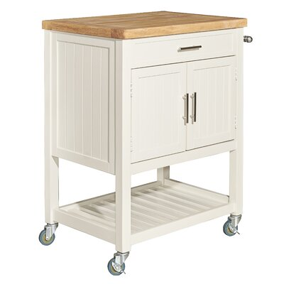 Seepa Kitchen Cart Base Finish: White
