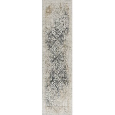 Eve Ivory/Gray Area Rug Rug Size: Runner 22 x 711