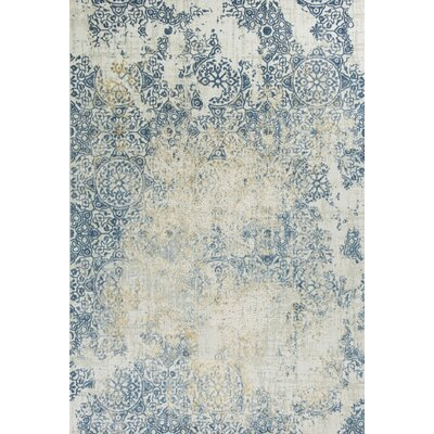 Eve Accents Ivory/Blue Area Rug Rug Size: 77 x 1010